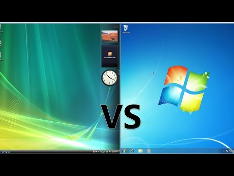 Comparing Windows 7 to Windows Vista