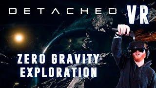 Detached: VR zero gravity EVA space gameplay using HTC Vive motion controls