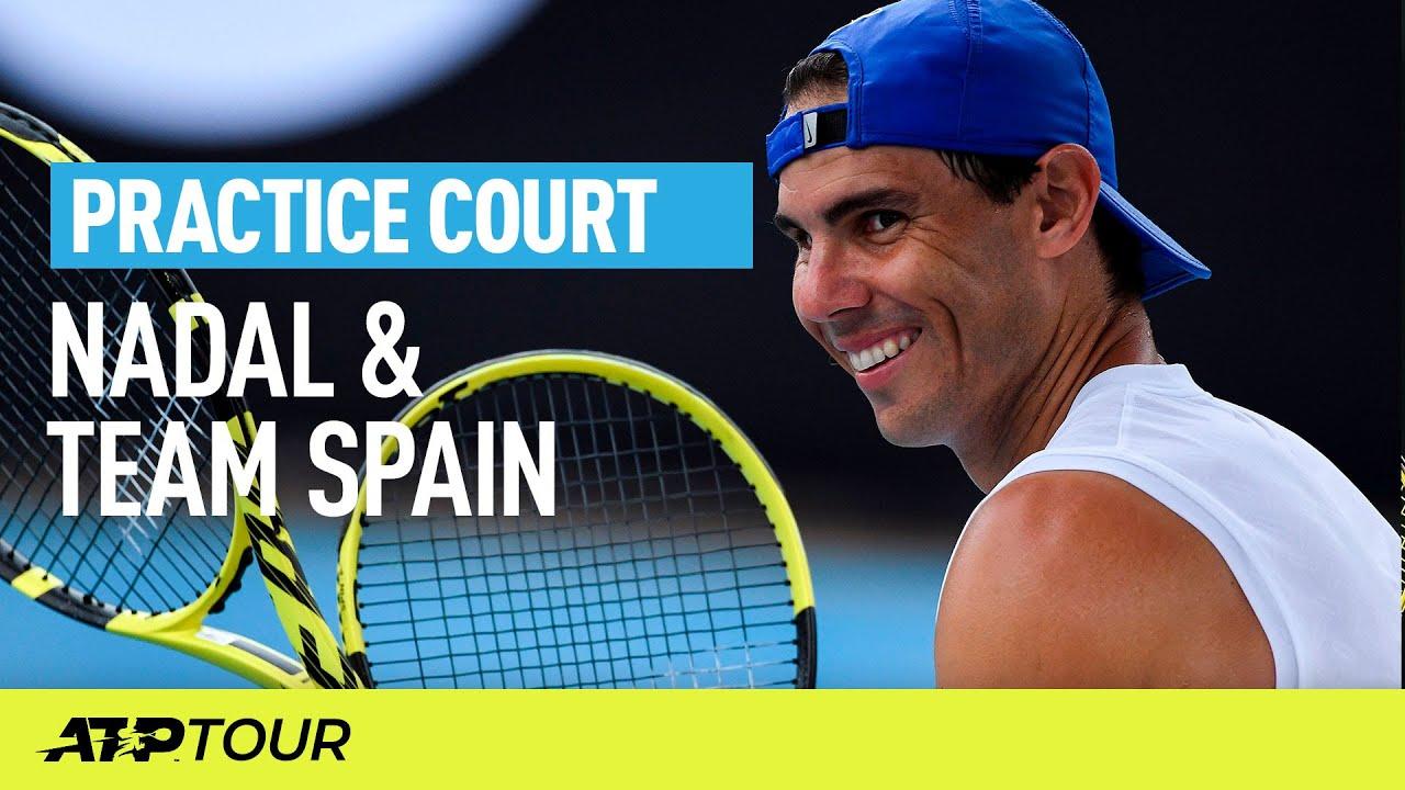 Nadal & Team Spain Practice | ATP CUP