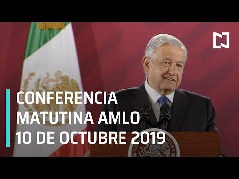 Conferencia matutina AMLO - Jueves de octubre 2019