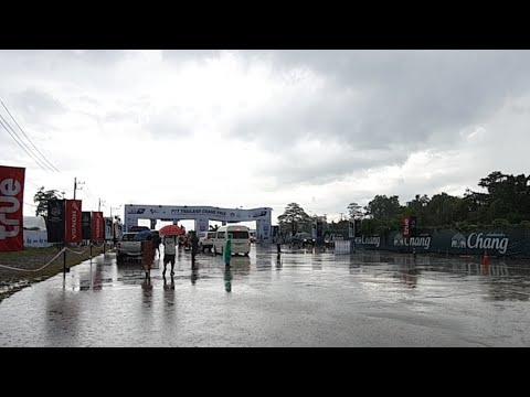 ถ่ายทอดสดฝนตกหนักที่สนามแข่งรถ MotoGP บุรีรัมย์