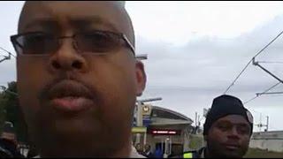 Police Arrest Man Videotaping @ Ferguson / St. Louis MetroLink Part 1