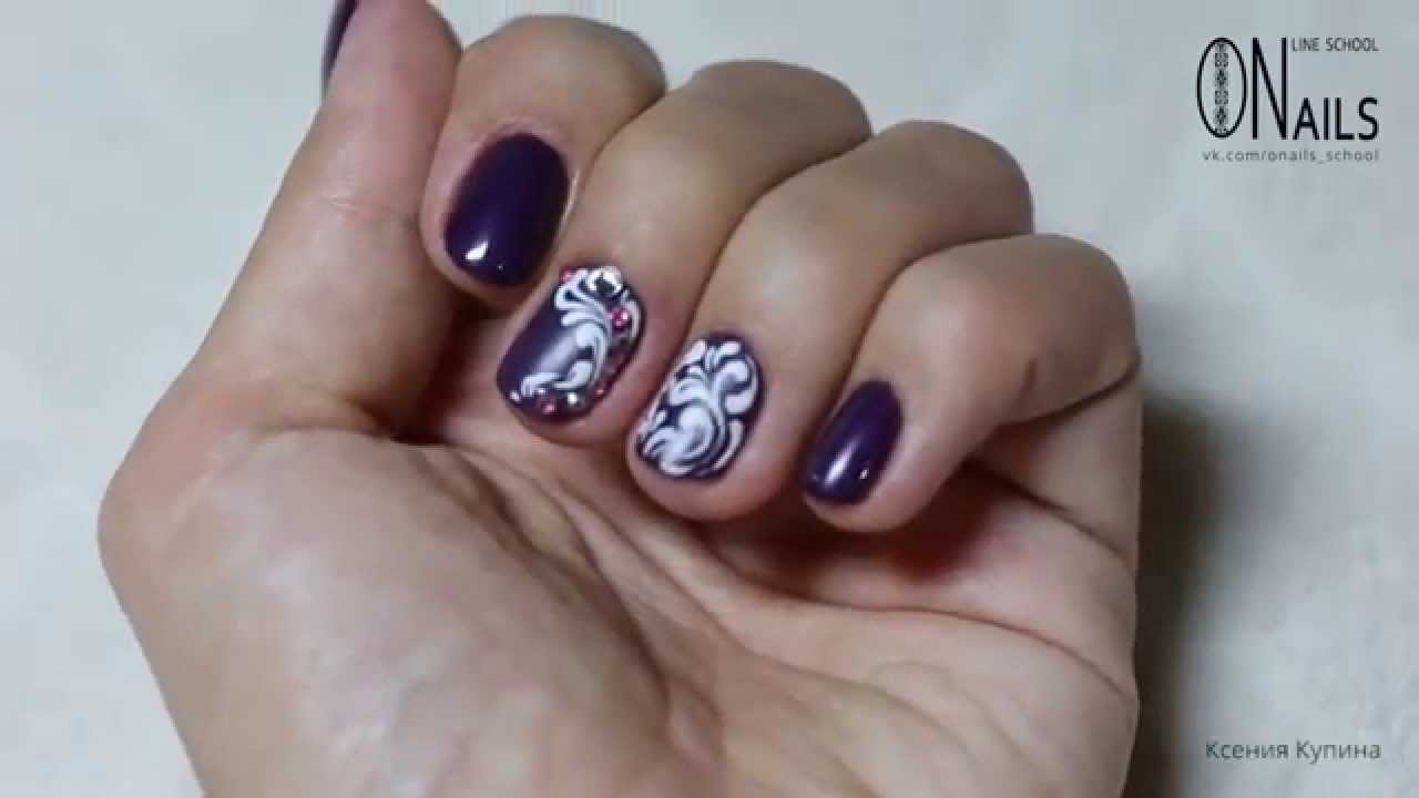 Дизайн вензеля ногтей фото