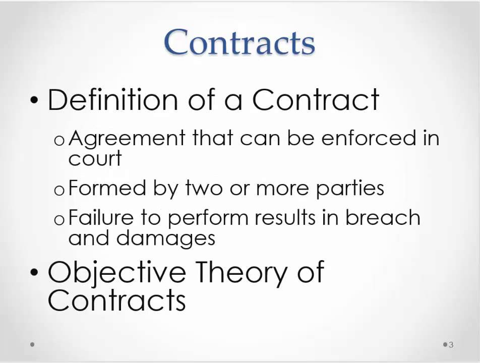 Business Law Introduction to Contracts - YouTube
