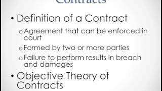 Business Law: Introduction to Contracts
