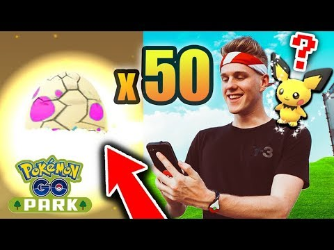 OPENING UP 50 EXCLUSIVE POKEMON GO YOKOHAMA EGGS! (SHINY PICHU EGGS)