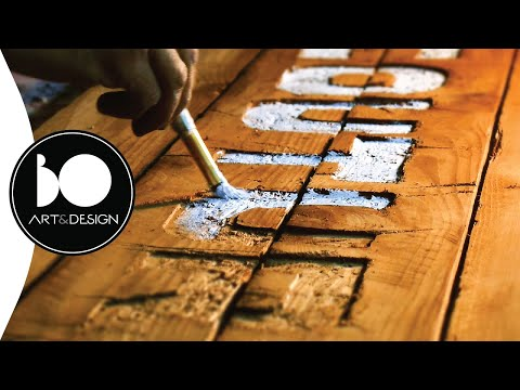 Make a Wooden Sign | Letters With Paint & Distressed Look P.3 | BO Art design