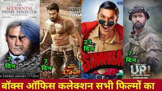 Box Office collection Uri, Vinaya vidheya Rama , accidental prime minister, Simmba total collection