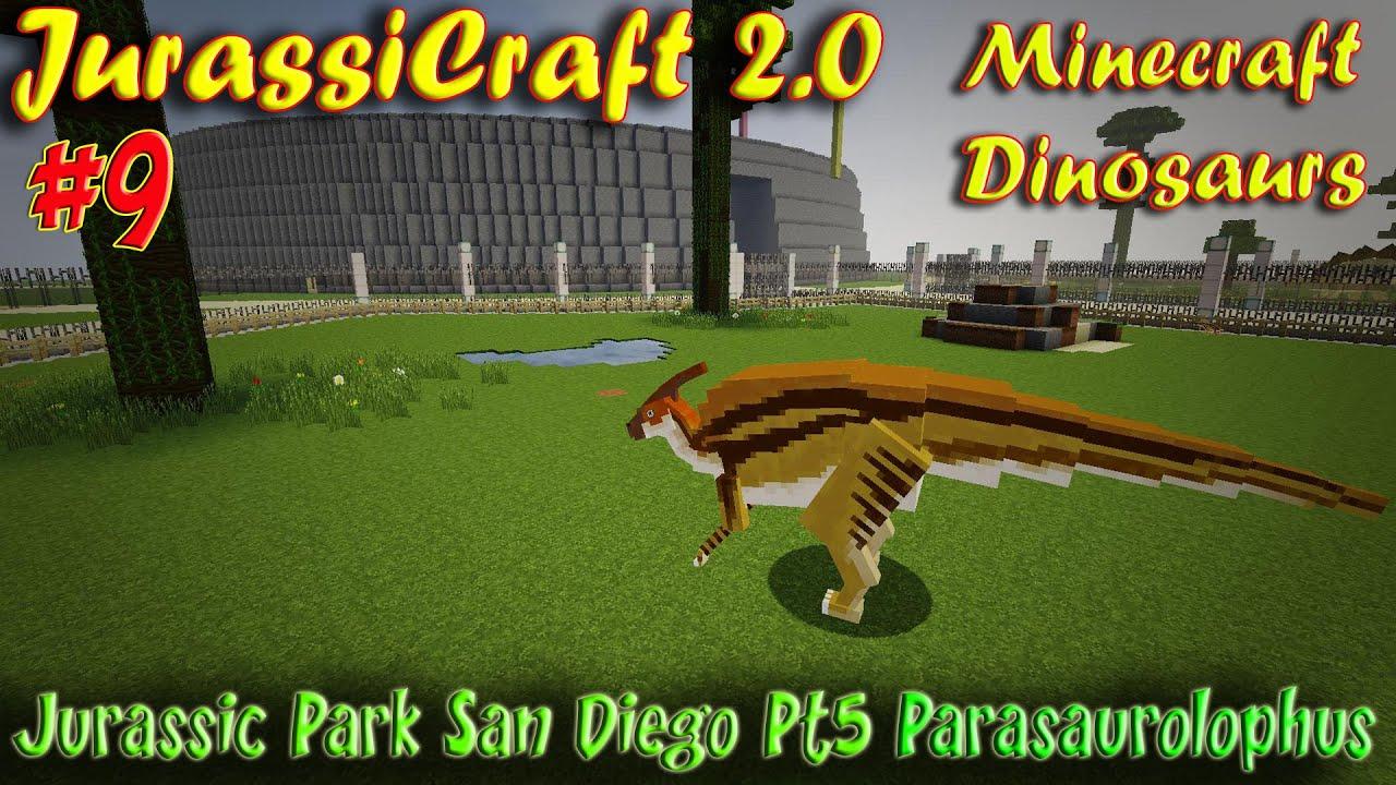 Minecraft Dinosaurs Jurassicraft 2 Ep9 Jurassic Park San