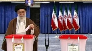 Raw: Ayatollah Khamenei Votes in Iran Election