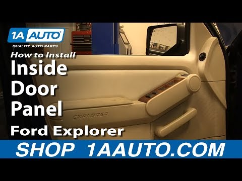 How to Replace Front Inside Door Panel 06-10 Ford Explorer