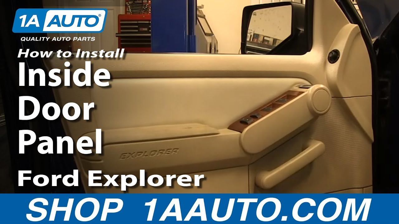 how to install remove front inside door panel 2006 10 ford explorer youtube. Black Bedroom Furniture Sets. Home Design Ideas