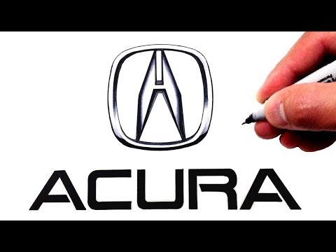 How To Draw The Acura Logo Famous Car Logos Youtube Video