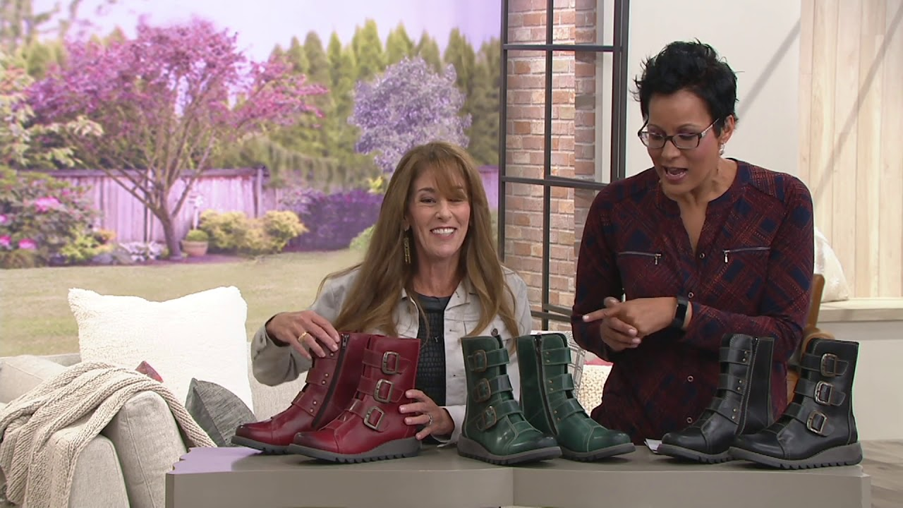 a9e3130d FLY London Leather Ankle Boots w/ Buckles - Scop on QVC - YouTube
