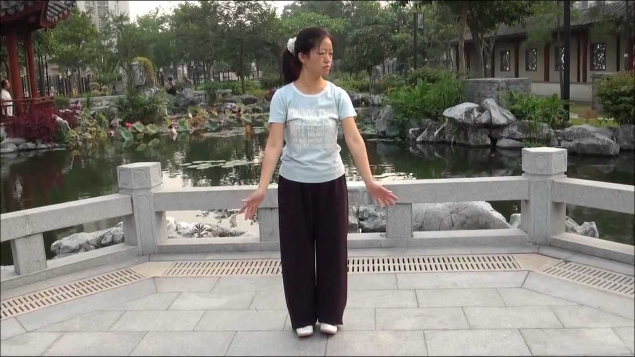 """QIGONG Shaolin """" BaDuanJin """" ( 8 pieces of Brocade ) performed by Fanny Ng with a New Age Music !"""