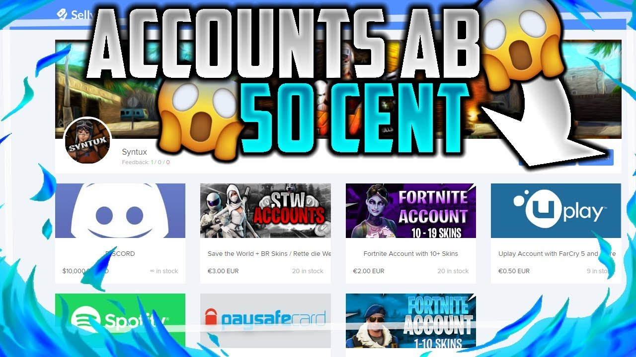 CHEAPEST ACCOUNT SHOP (Selly gg / Shoppy gg) | Fortnite Accounts