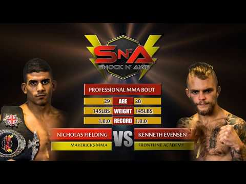 Shock N Awe 26 - Nicholas Fielding vs Kenneth Evensen Pro MMA