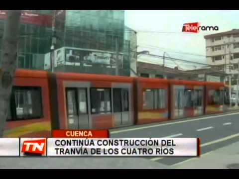 Continúa construcción del Tranvía de los Cuatro Ríos