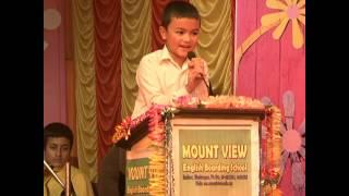 Little Kid's Amazing Speech infront of Mass