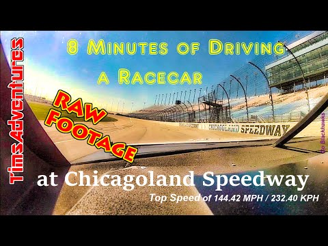 Driving a Racecar at Chicagoland Speedway