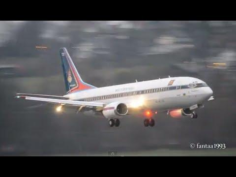 Thai - Air Force Boeing 737-448 lands in Berne! HD