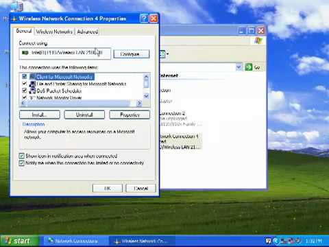 Windows XP - How To Connect To A Wireless Network