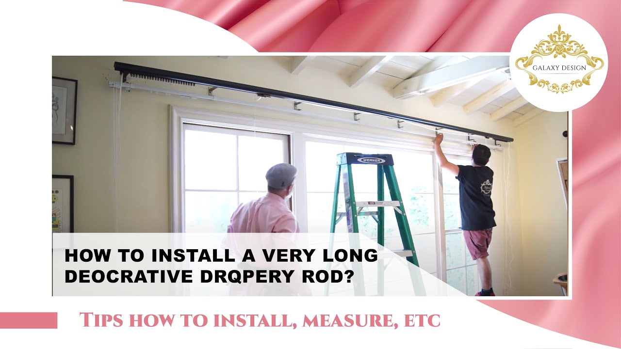 Video #58: Innovative Design Series: Installing a Heavy Duty Deco Rod  including F-Brackets Curtains - YouTube