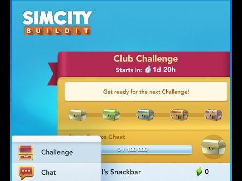 simcity buildit new update - club challenges - how does it work - free vu  items? - random games