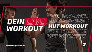 Fitness First Live Workout - HIIT Workout  mit Filiz
