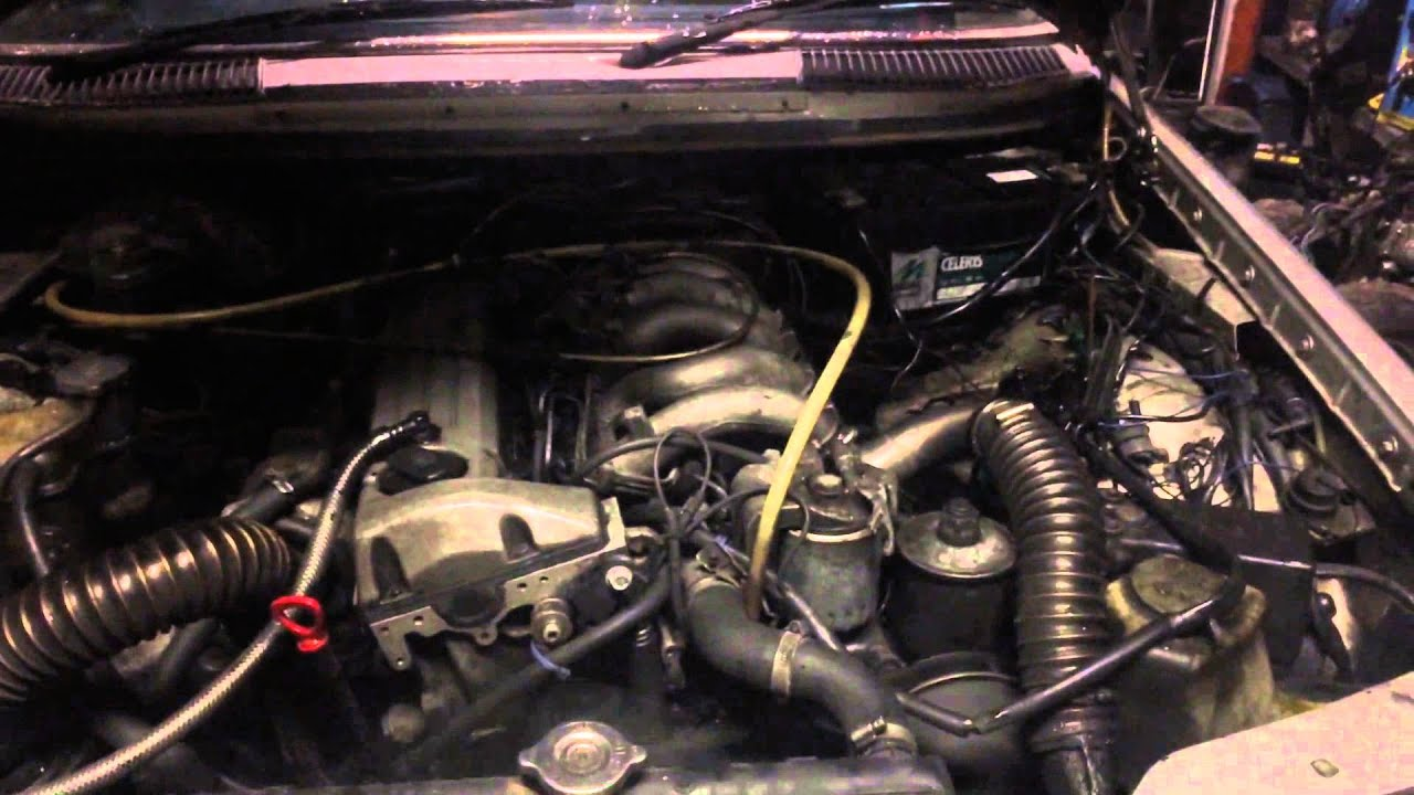 Mercedes om602 turbo running - YouTube