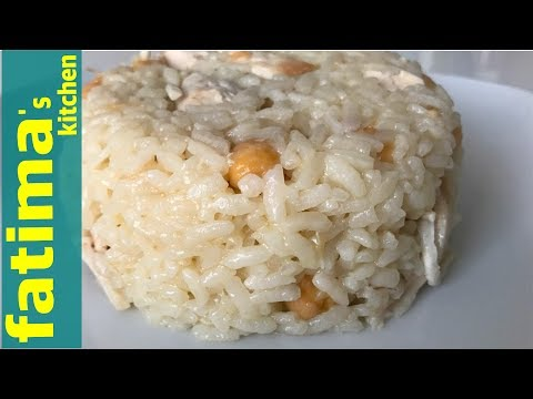Turkish Style Rice With Chicken And Chickpeas ( Turkish Street Food )