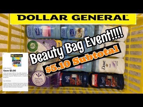 Dollar General Beauty Bag Event | Deodorant Wasted 🥴 | $0.51 Ea