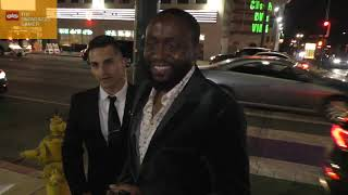 Byron Bowers greets fans outside the Honey Boy premiere at ArcLight Cinerama Dome in Hollywood