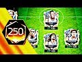 250 OVR ! HIGHEST PRIME ICONS TEAMS IN FIFA MOBILE  -My biggest icon packs & rank ups Icon Ronaldo
