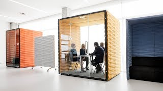 Vank's soundproof pod offers a private workspace in open-plan offices