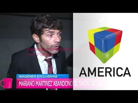 Mariano Martínez abandonó el show de Lali Espósito