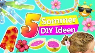 5 SOMMER DIY IDEEN gegen Langeweile | Eis, Deko, Frisur | Inspirationen zum selber machen | deutsch