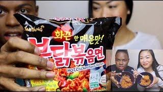 Spicy Ramen Noodle Challenge   Bev x Adrea