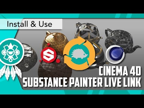[CINEMA 4D] SUBSTANCE PAINTER Live Link Installation and Use Guide