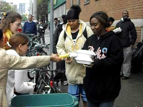 Food for Life-prasadam distribution at homeless shelters ISKCON Toronto May 17th/2009