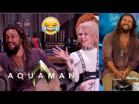 Aquaman Cast Funniest Moments  Jason Momoa Pulled a Prank on Amber Heard  2018