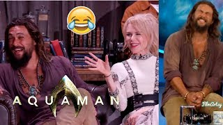Download Aquaman Cast Funniest Moments | Jason Momoa Pulled a Prank on Amber Heard | 2018 Mp3 and Videos