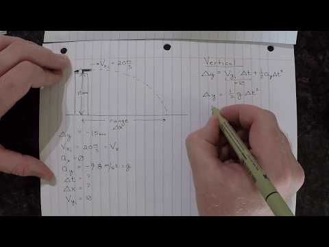 Introductory Physics: Projectile Motion with Projectile Launched Horizontally thumbnail