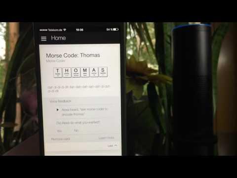 Morse Encoding with Amazon Echo - Alexa teaches you how to Morse code