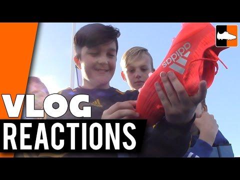 Kids React to adidas Speed of Light Football Boots