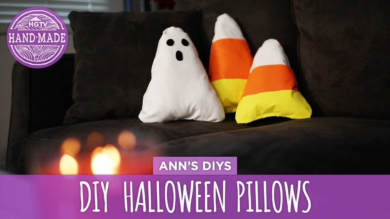 diy halloween decorative pillows hgtv handmade youtube - Halloween Pillows
