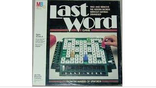 Ep. 83: Last Word Board Game Review (Milton Bradley 1985)