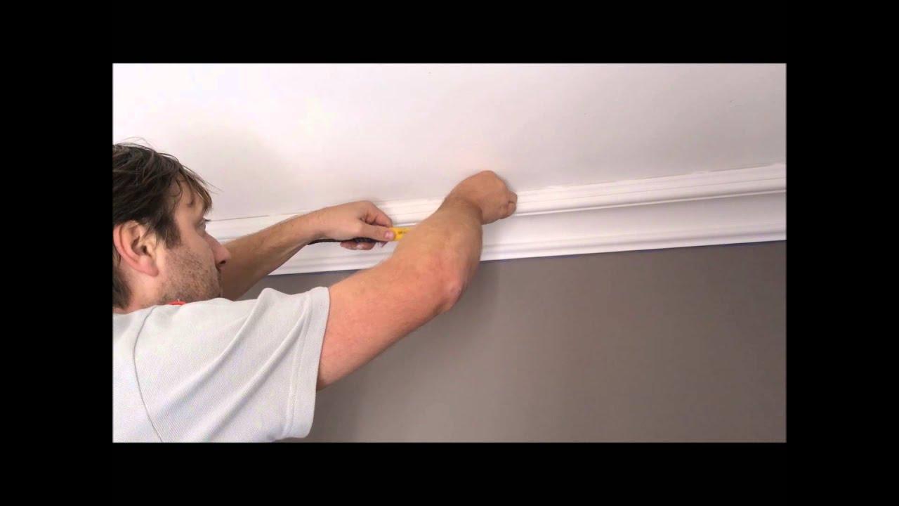 moulures en pl tre pose facile youtube. Black Bedroom Furniture Sets. Home Design Ideas