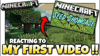 Minecraft - MY FIRST VIDEO - SO BAD  [ Reaction ] PS4 / MCPE / Xbox / Bedrock