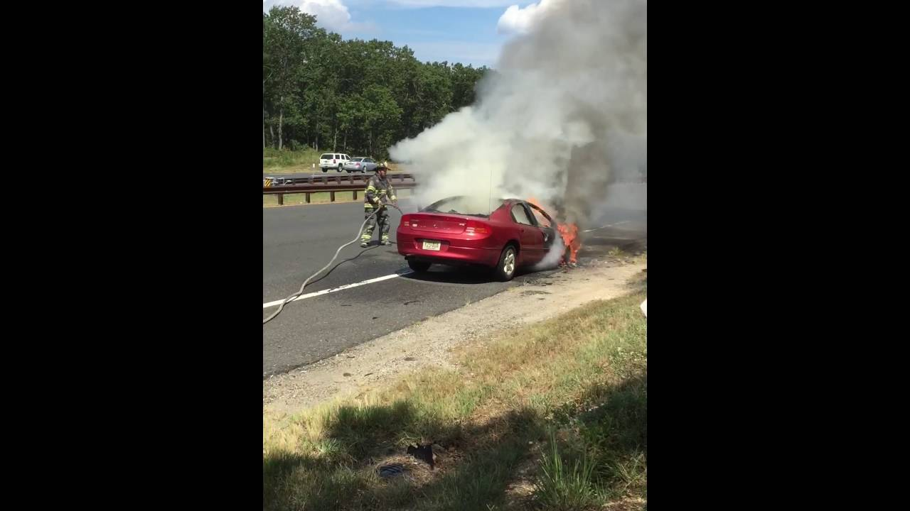 Garden State Parkway Exit 98 Vehicle Fire